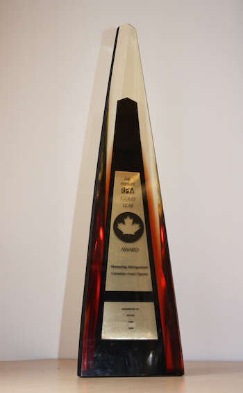 1975-1977  JUNO Awards Statuette Photo Credit: CARAS