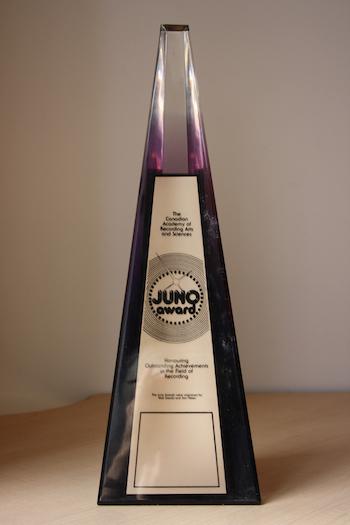1984-1990  JUNO Awards Statuette Photo Credit: CARAS
